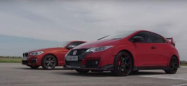 «Топором» по заднему приводу: Honda Civic Type R бросила вызов спортхэтчбеку BMW