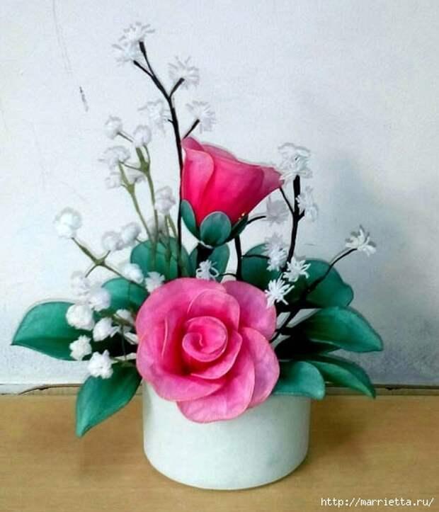 Розы из капрона. Красивые идеи и мастер-класс (36) (467x545, 134Kb)