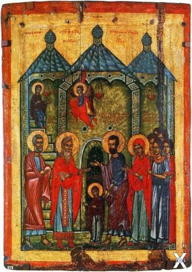 Введение во храм. Икона из села Криво...
