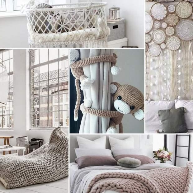 Вязанный декор — оригинальное дополнение к стильному интерьеру