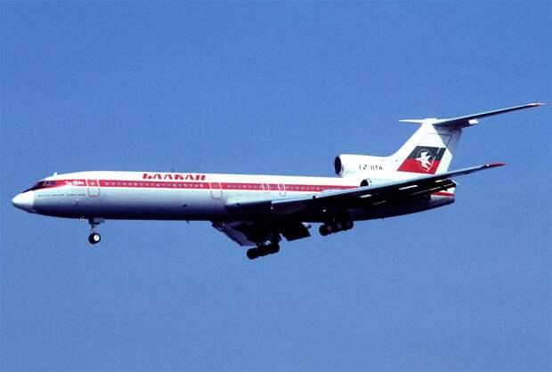 Balkan - Bulgarian Airlines Tupolev Tu-154B; LZ-BTA, September 1980 DRX (5163673005).jpg