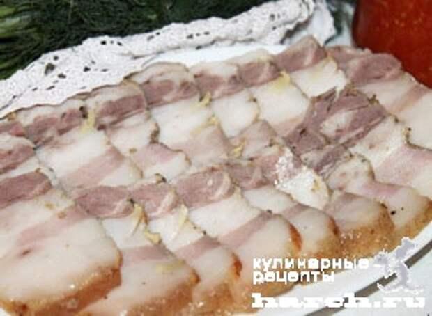 salo s gorchicey v folge 71 Сало с горчицей в фольге