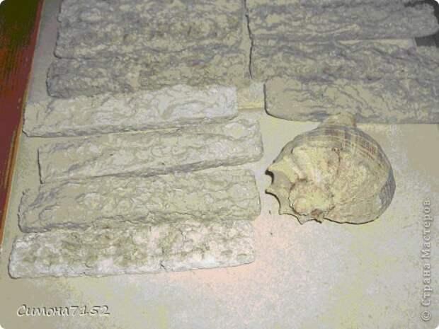 Интерьер Мастер-класс Папье-маше Процесс декорирования стены камнем из бумаги Бумага фото 7