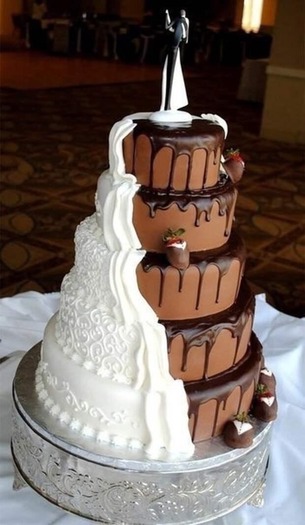 Когда не смогли выбрать свадебный торт