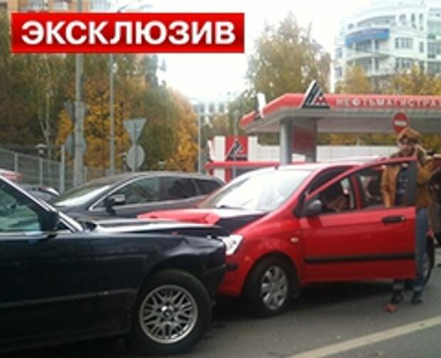 Утечка жидкого кислорода на Московском шоссе