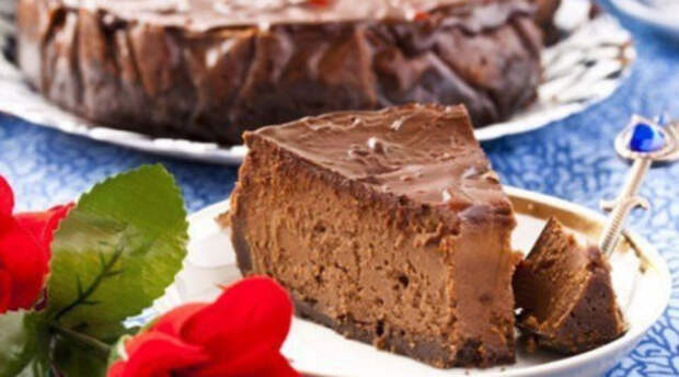 Диетический шоколадный чизкейк, для сладкоежек сидящих на диете