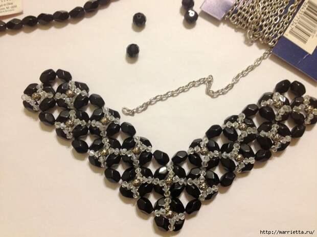 стильное ожерелье из бисера и кристаллов. мастер-класс (18) (700x525, 252Kb)
