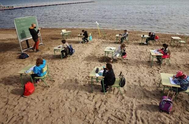 Испания: уроки на пляже вместо онлайн-уроков