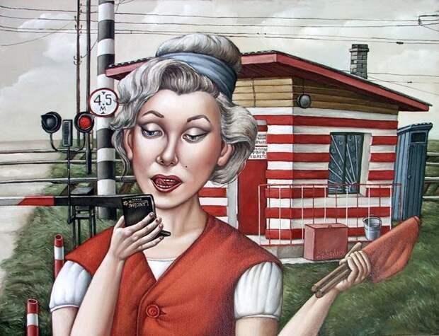 AngelaJerich03 Путешествие в СССР: картины художницы Анжелы Джерих