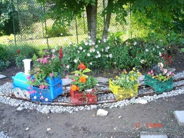 Поделки для двора из пластиковых бутылок