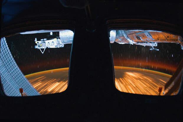 Чумовое видео с борта МКС