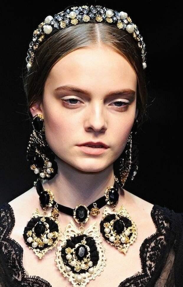 Клипсы в стиле Dolce & Gabbana