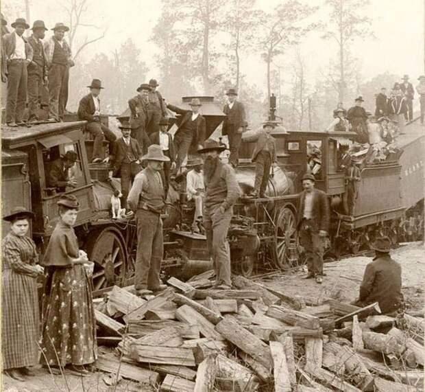 Крушение поезда в окрестностях города Лакин (Техас, США). 1893 год