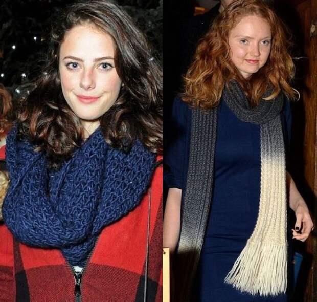 Вязанные свитера и шарфы знаменитостей