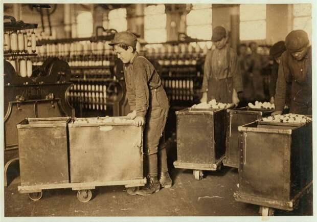 3. Фабрика в Северной Каролине, США. 1908 год. америка, дети, детский труд, история