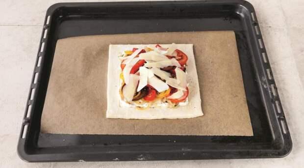 Томатный тарт с карамелизованным луком. Шаг 5