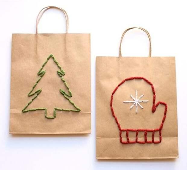 Вышитая упаковка подарков