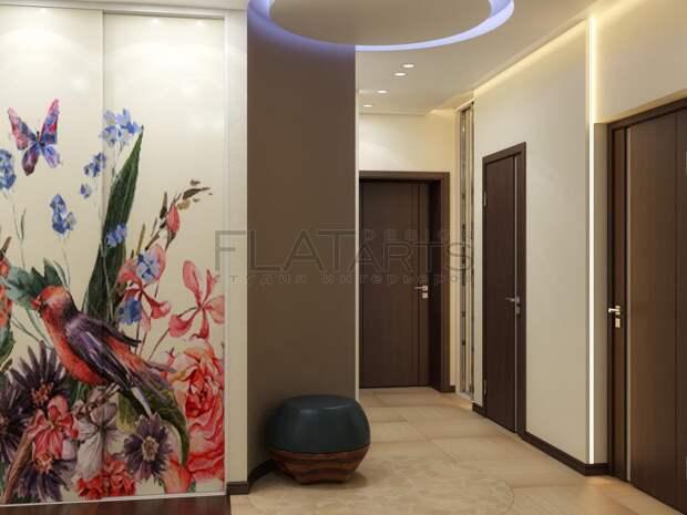 Дизайн-проект двухкомнатной квартиры, интерьер прихожей