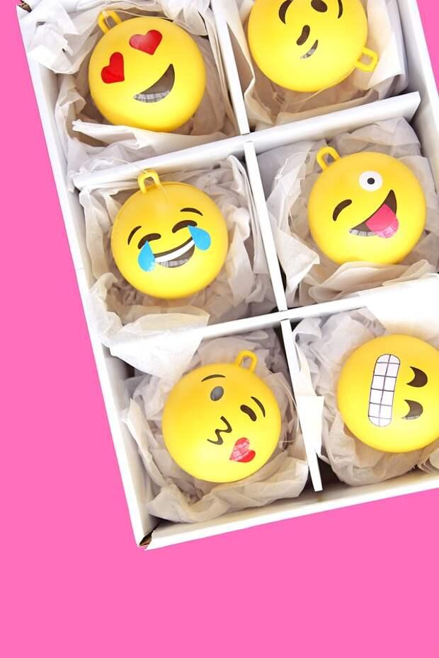 Ёлочные игрушки смайлы (2Diy)