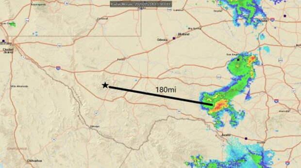 Красное сияние и рычание над Техасом заставило знаменитого астронома убежать.