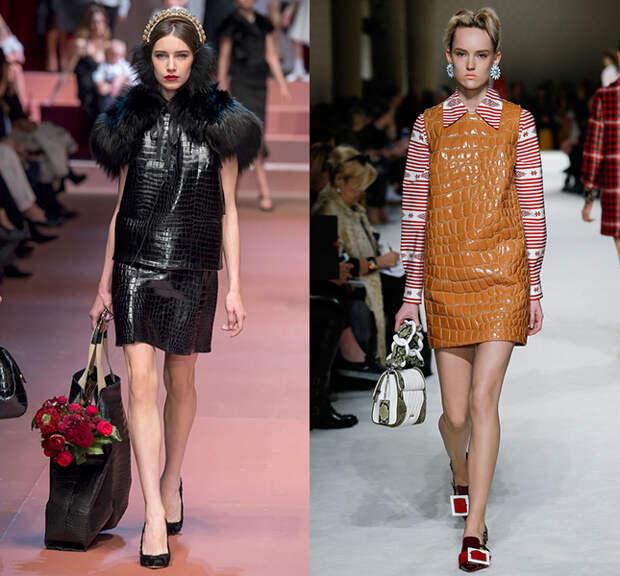 Слева — Dolce & Gabbana, справа — Miu Miu