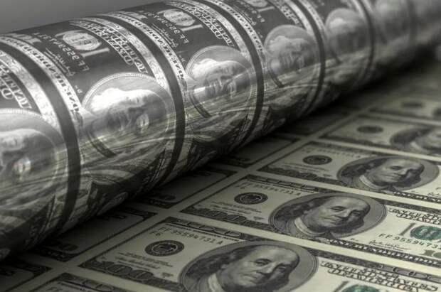 Печатный станок, доллары