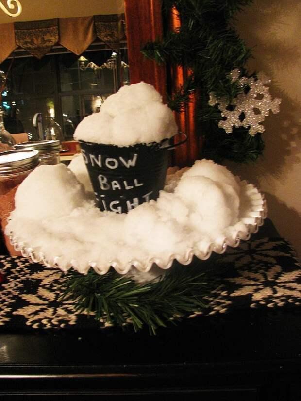 Искусственный снег: 25 красивых идей и советы по применению