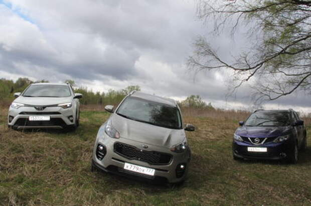 Toyota RAV4, Kia Sportage, Nissan Qashqai: трудный выбор
