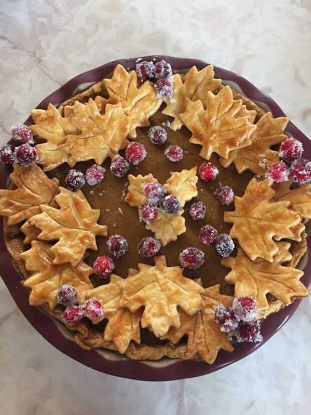 Восхитительный осенний пирог выпечка, красивая еда, кулинария, пироги