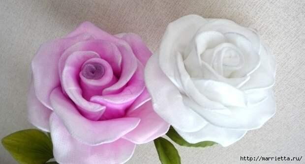 Розы из капрона. Красивые идеи и мастер-класс (38) (592x319, 98Kb)