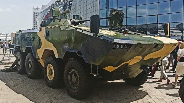 Опубликованы первые кадры новейшего белорусского БТР Volat V2