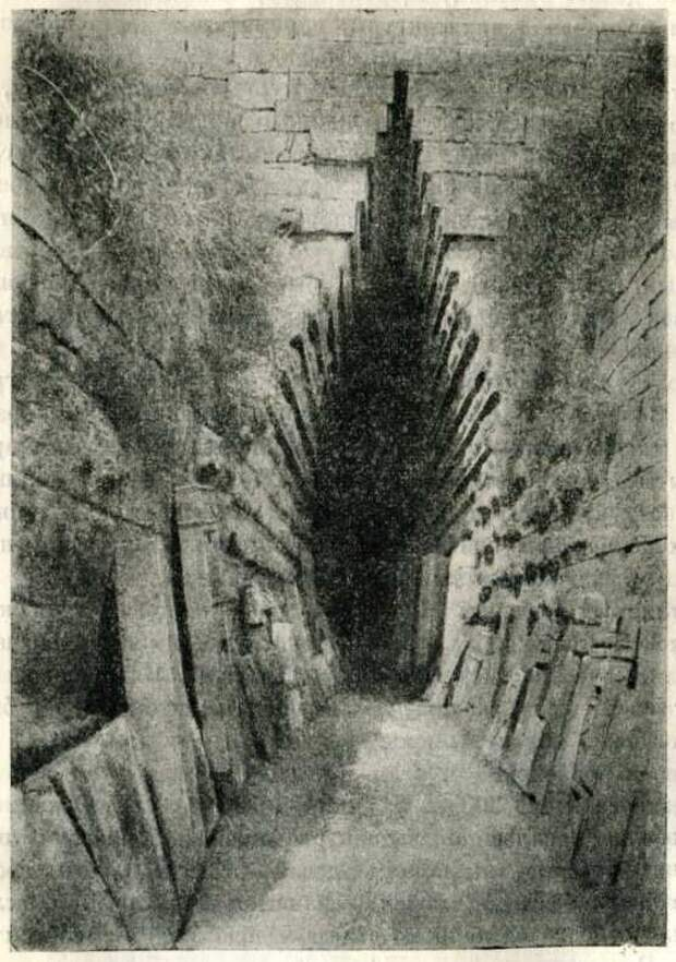 Дромос склепа в Царском кургане. IV в. до н. э.