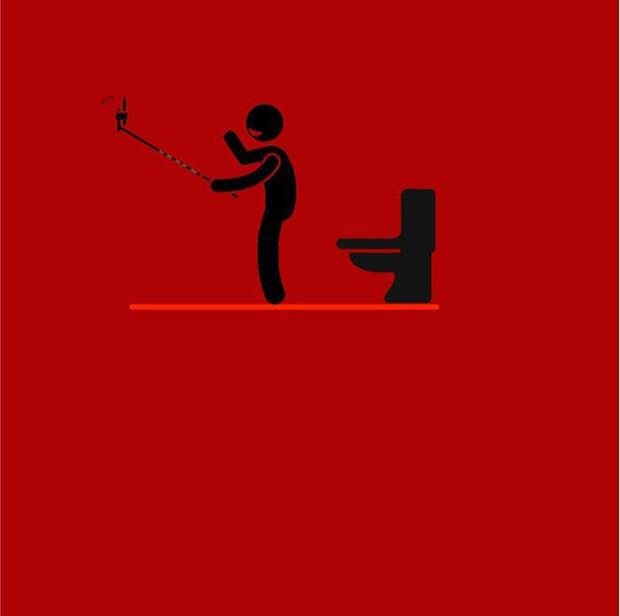 Плакаты, иллюстрирующие нашу зависимость от современных технологий