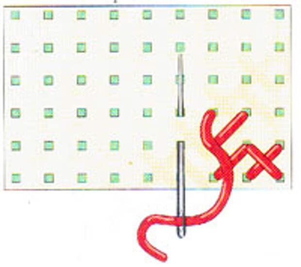 Вышивка крестиком по диагонали. Двойная диагональ справа налево (фото 3)