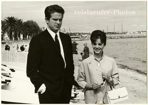 Натали Вуд и Уоррен Битти на 16-м Каннском кинофестивале, май 1962 года.