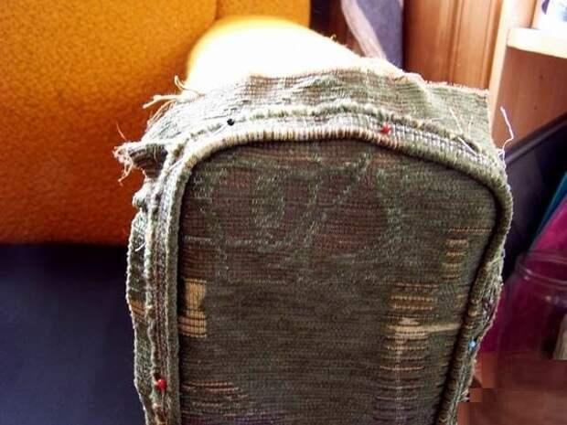 Как обновить старое кресло. Меняем обивку сами (13) (600x450, 140Kb)