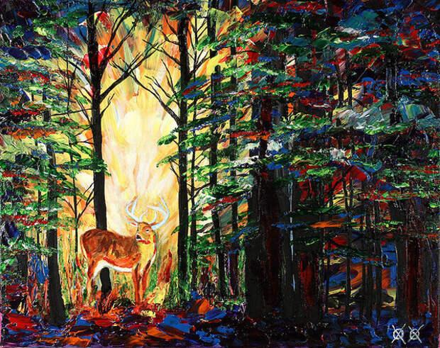 Ошеломляющие картины слепого художника