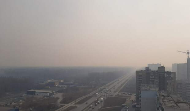 Из-за лесных пожаров Тобольск затянуло смогом