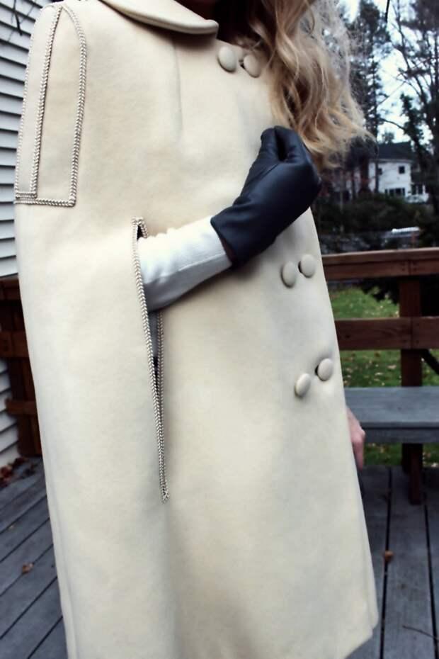 Делаем кейп из пальто