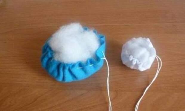 Снеговик из фетра. Как сделать новогодние игрушки из фетра своими руками