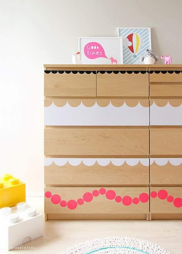 Декор комодов из IKEA