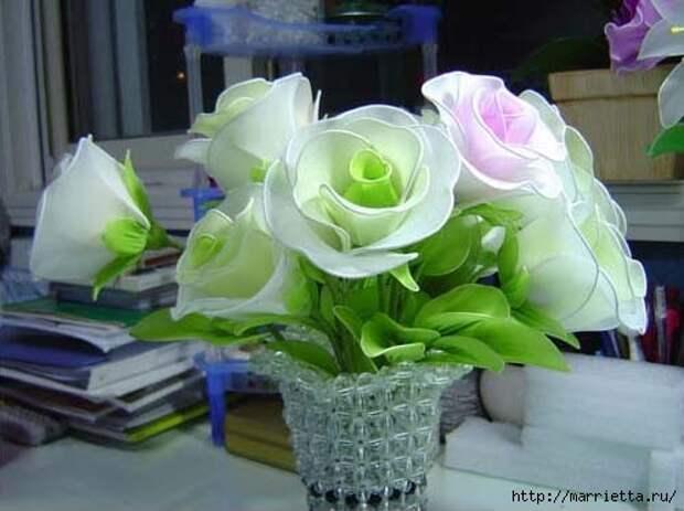 Розы из капрона. Красивые идеи и мастер-класс (55) (499x373, 94Kb)