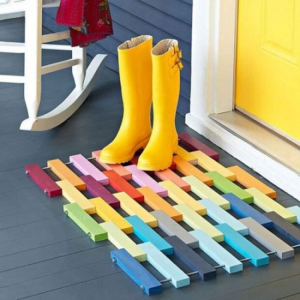 подставка для обуви из поддонов