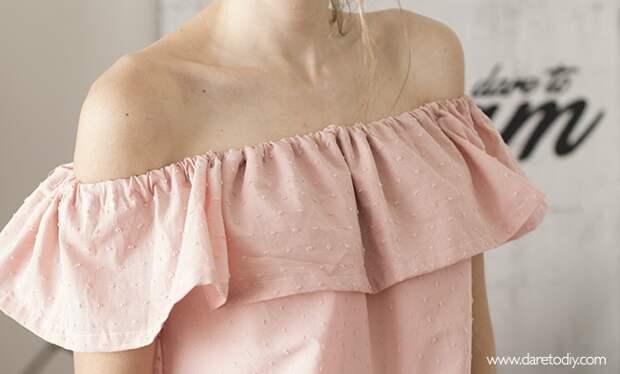 Платье с оборкой (Diy)