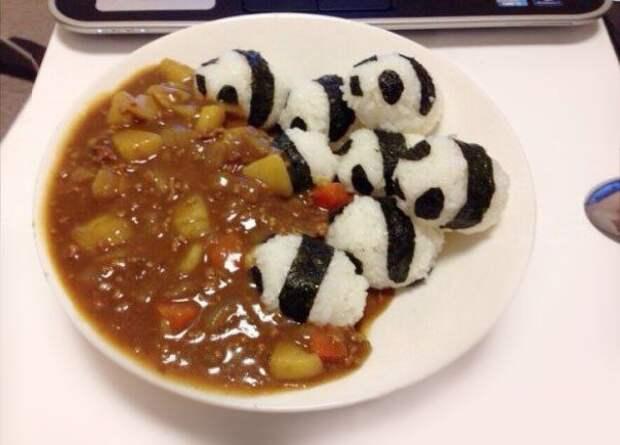 Очень мило оформленные блюда, по мотивам японской кухни