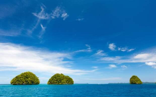 Коралловые острова Челбахеб в Палау