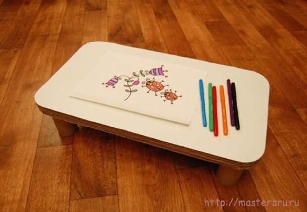 Как сделать детский столик на диван7