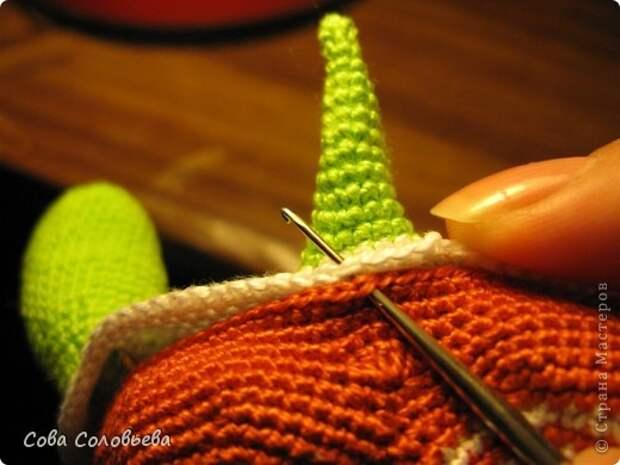 Игрушка Мастер-класс Вязание крючком изготовление Черепашки Пряжа фото 21