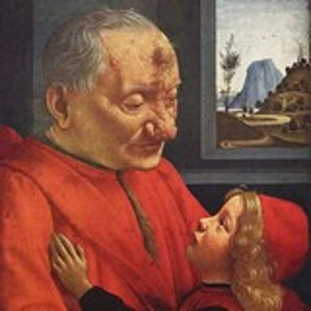 Портрет старика с внуком