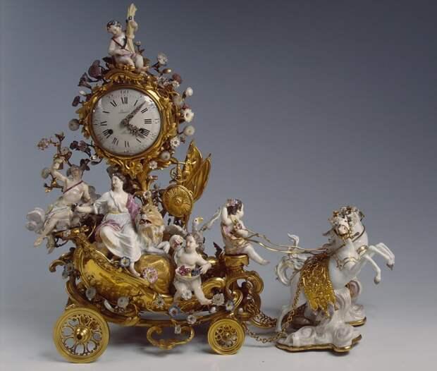 антикварный фарфор часы - 01